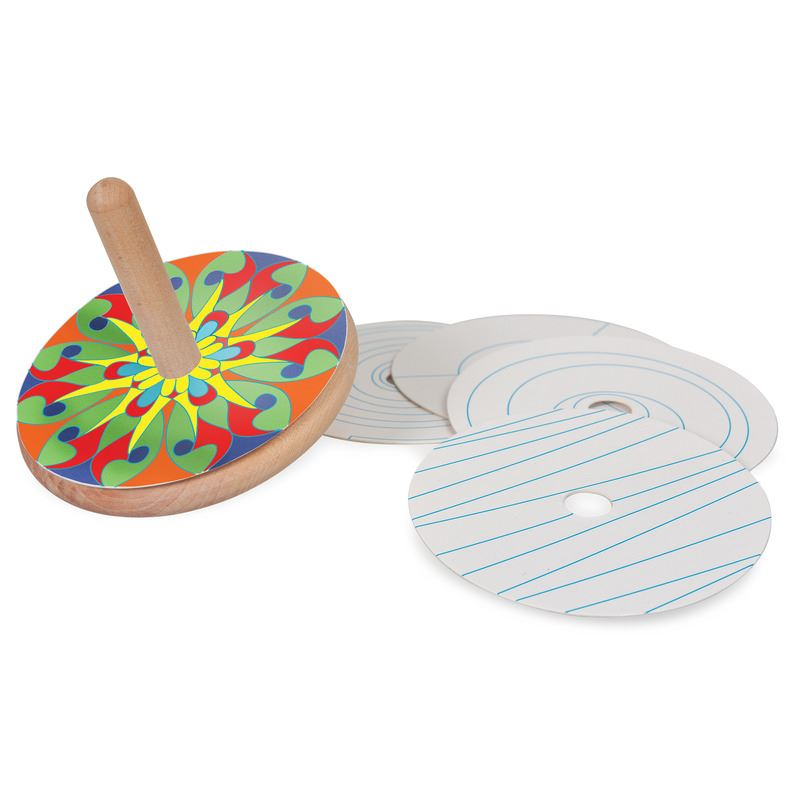COLOUR AND SPIN WOODEN TOP